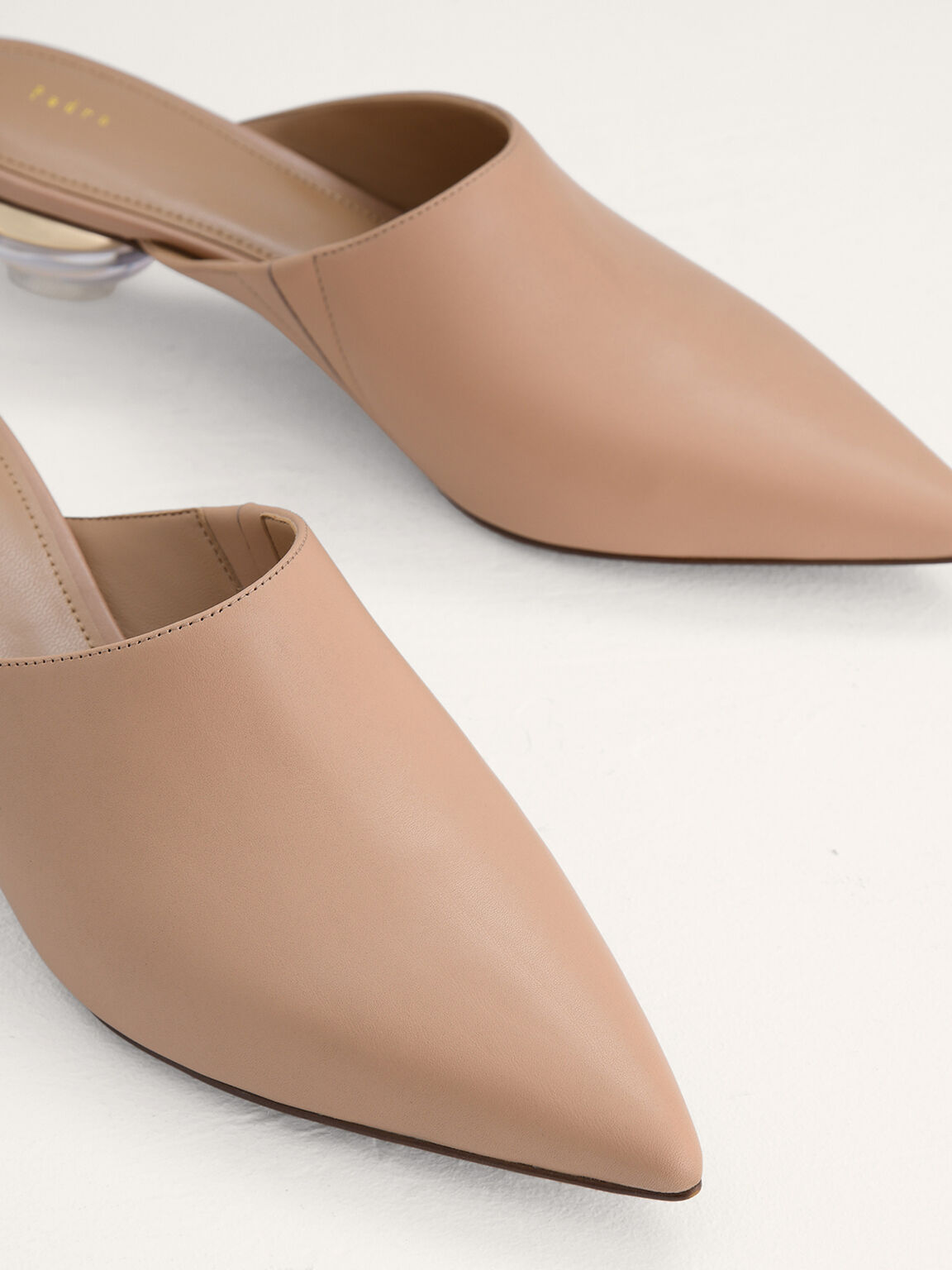 Leather Mules, Camel, hi-res