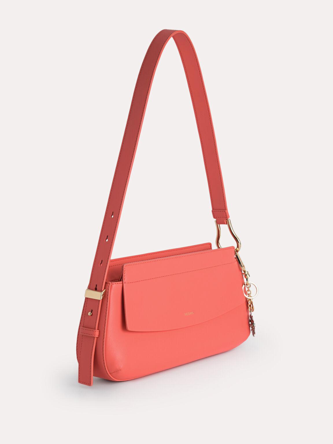 Baguette Shoulder Bag, Coral Pink, hi-res