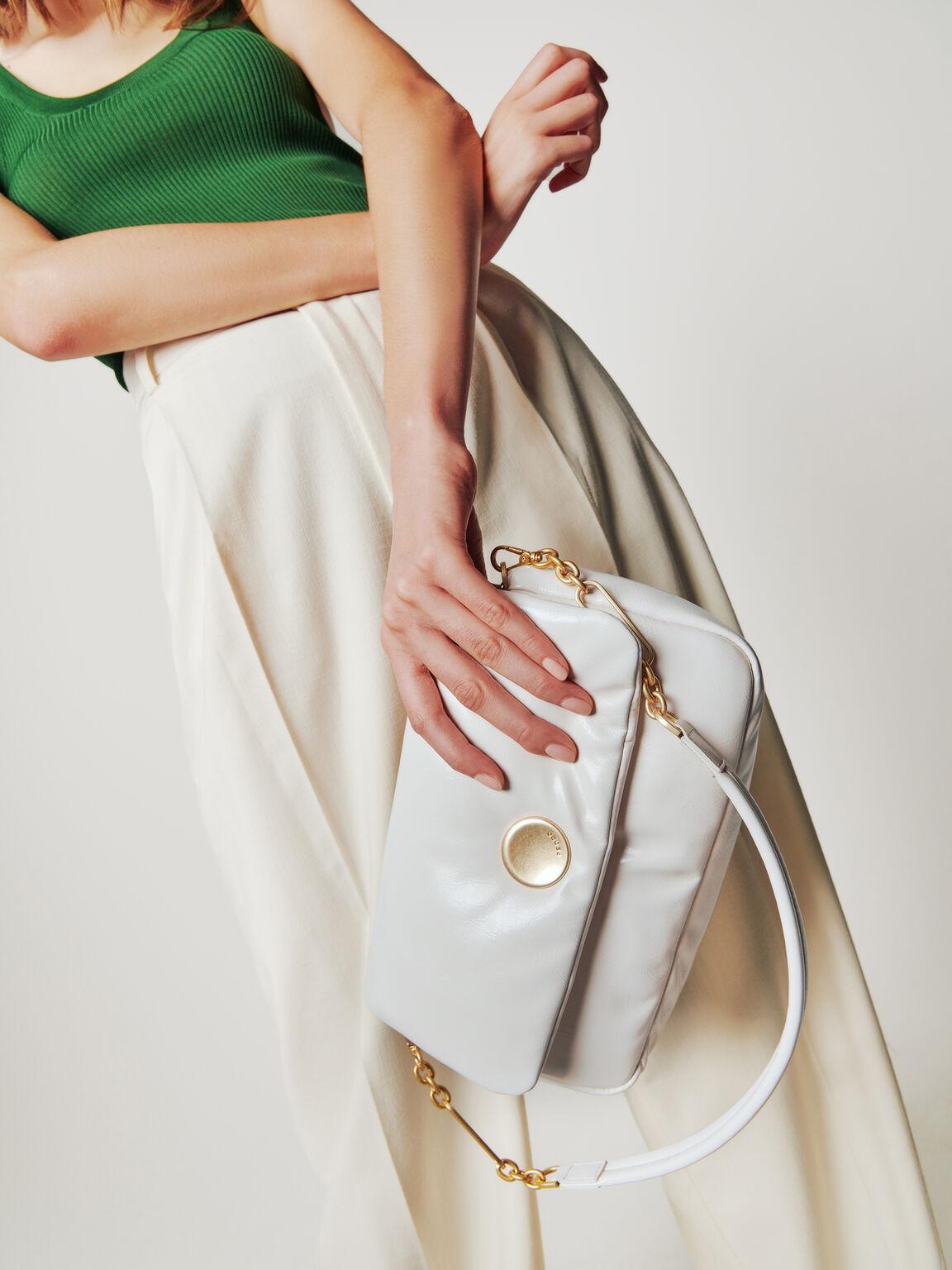 Padded Shoulder Bag, Chalk, hi-res