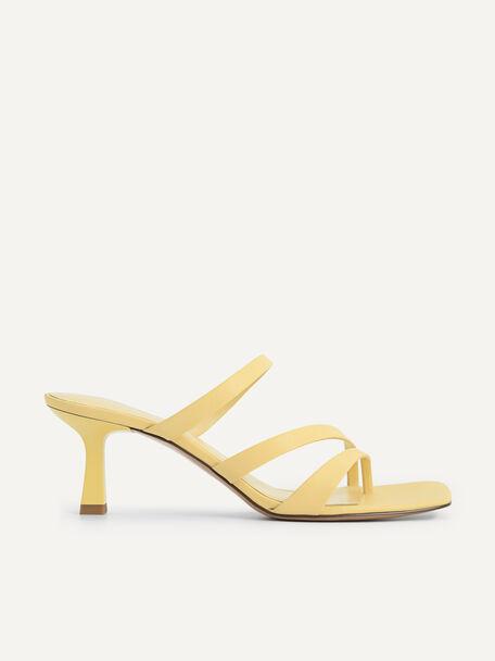 Strappy Heeled Sandals, Sand, hi-res