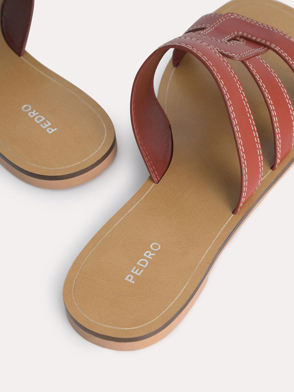 Abstract Casual Sandals, Cognac, hi-res