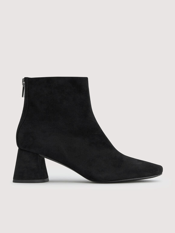 Suede Ankle Boots, Black, hi-res