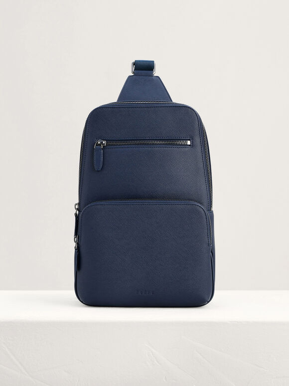 Casual Sling Pouch, Navy, hi-res