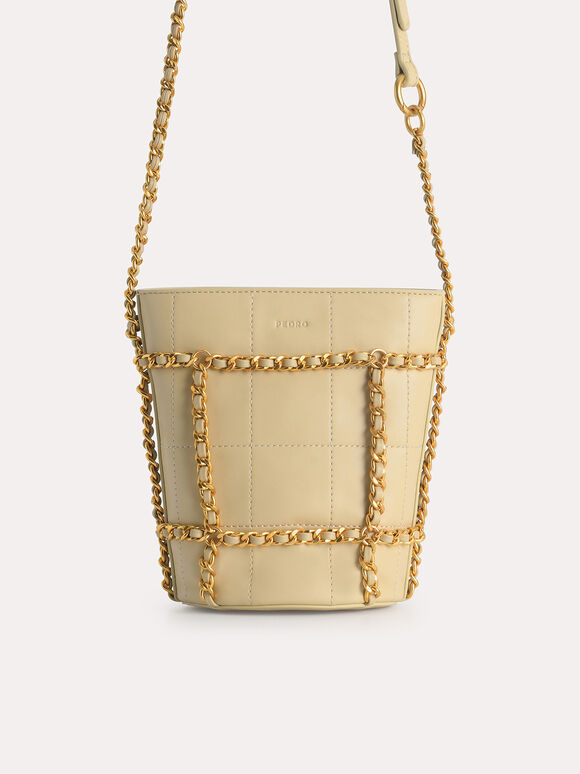 Bucket Shoulder Bag, Sand, hi-res
