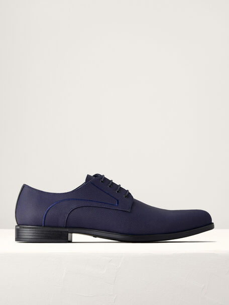 Pointed Toe Derby Shoes, Navy, hi-res