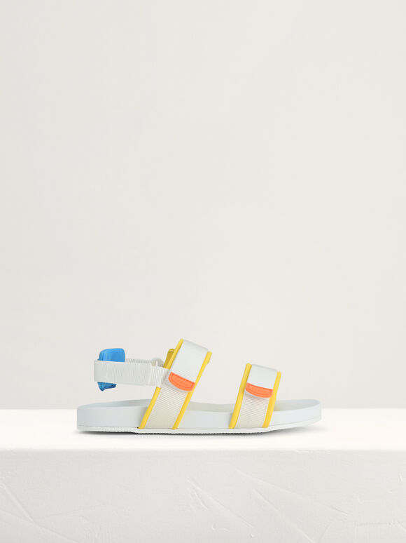 Colour-Block Sandals, Multi, hi-res