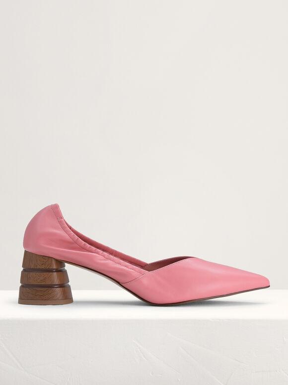 Leather Pumps, Light Pink, hi-res