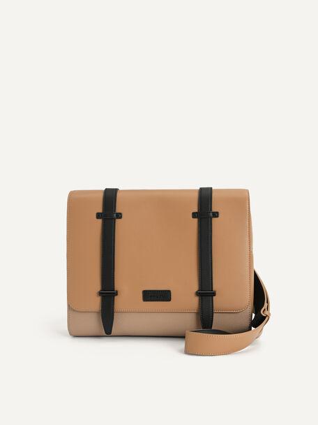 Casual Messenger Bag, Sand, hi-res