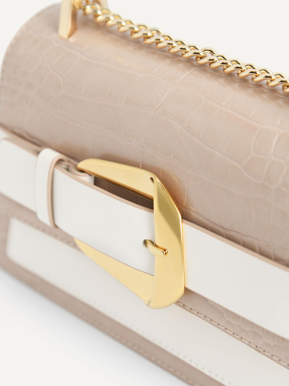 Snake-Effect Shoulder Bag, Multi, hi-res