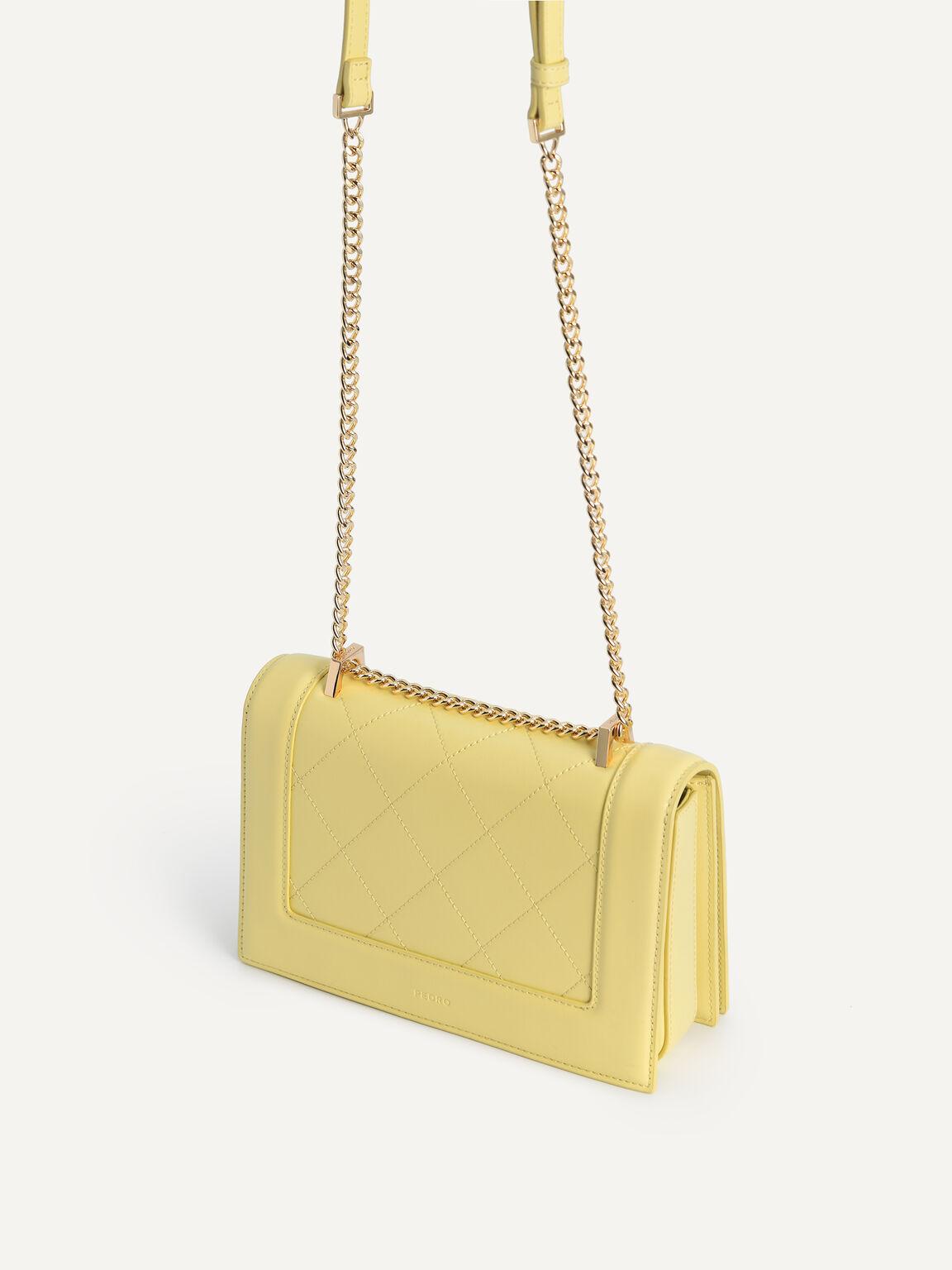 Quilted Shoulder Bag, Light Yellow, hi-res