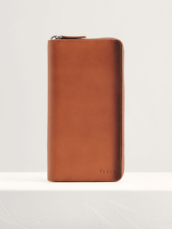 Leather Long Wallet, Cognac, hi-res