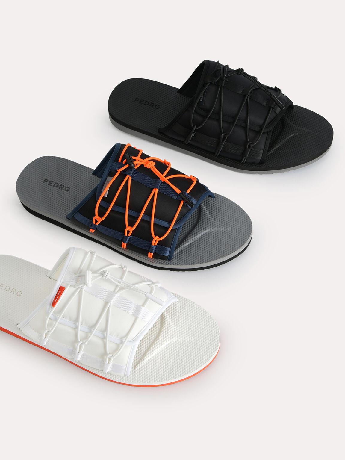 Nylon Slip-On Sandals, Multi, hi-res