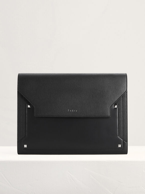 Two-Way Clutch in Two Tone, Black, hi-res
