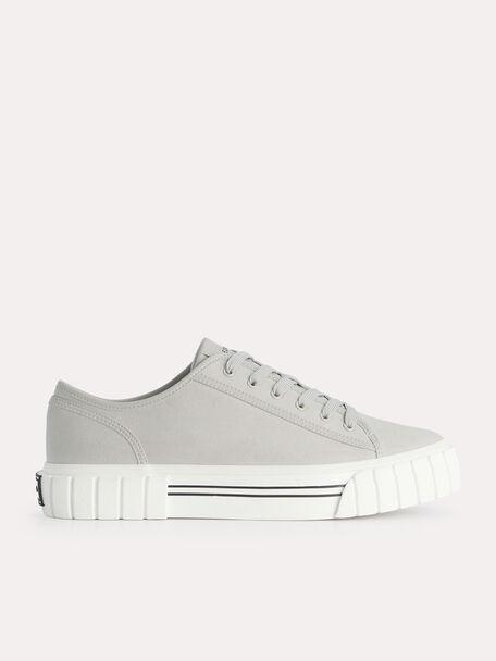 Beat Platform Sneakers, Light Grey, hi-res