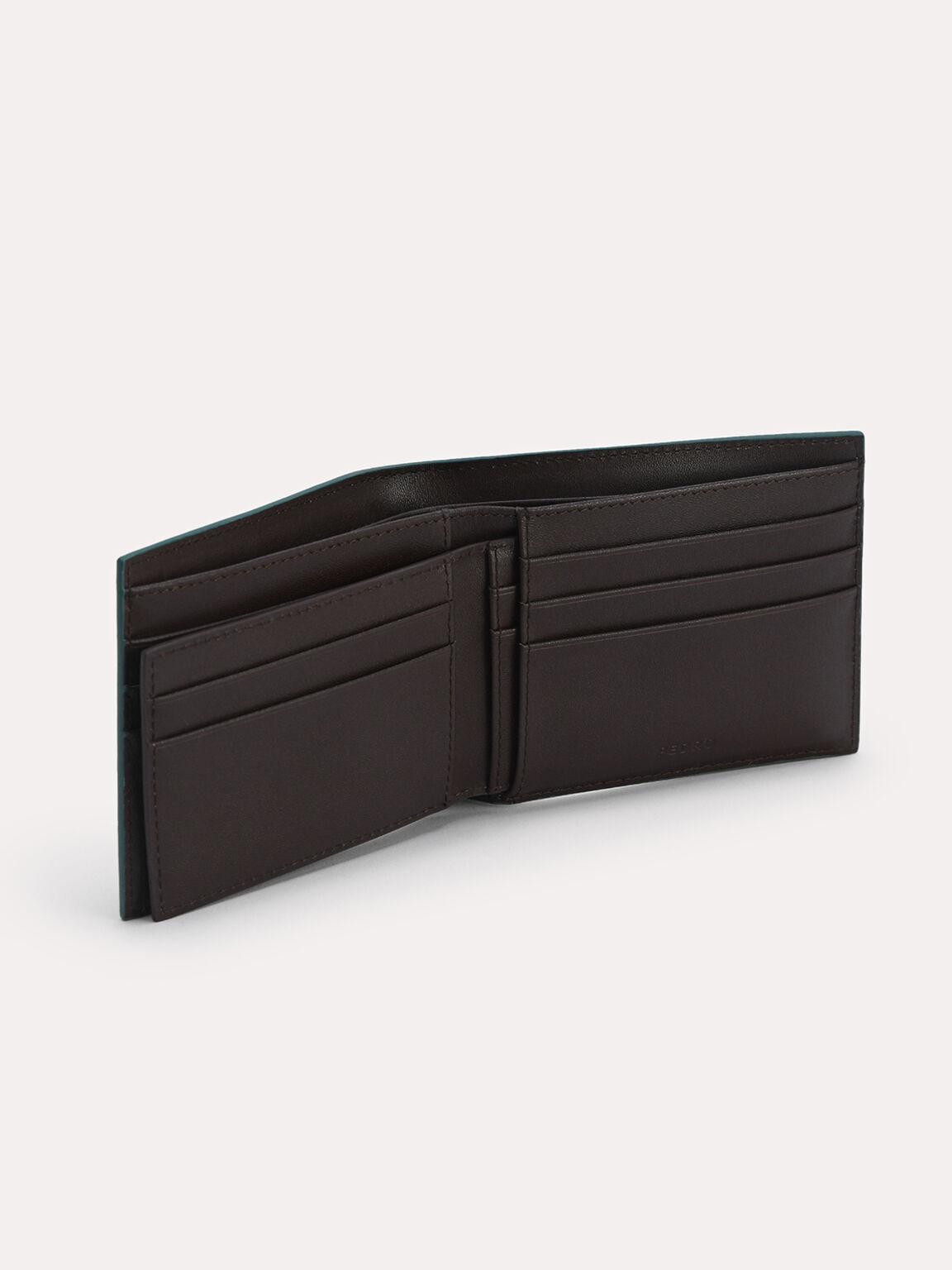 Leather Bi-Fold Wallet with Insert, Dark Green, hi-res