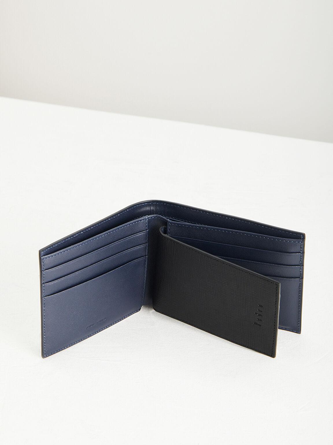Leather Bi-Fold Wallet with Insert, Black, hi-res
