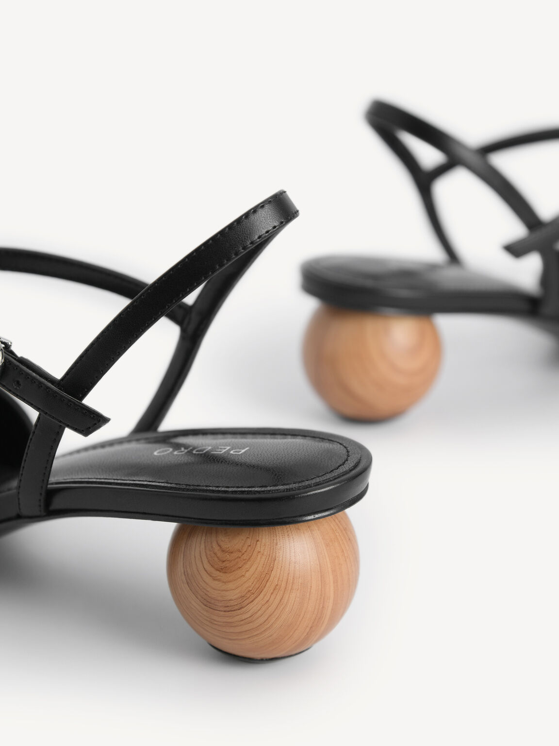 Leather Pointed Toe Heels, Black, hi-res