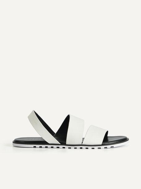 Double Strap Slingback Sandals, White, hi-res
