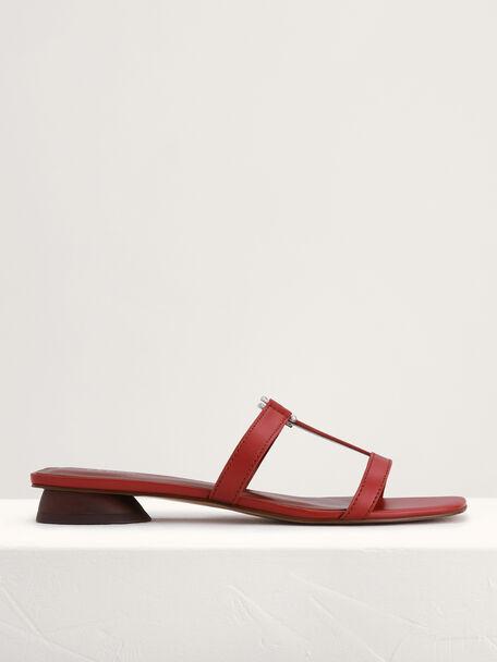 Square-Toed Sandals, Brick, hi-res