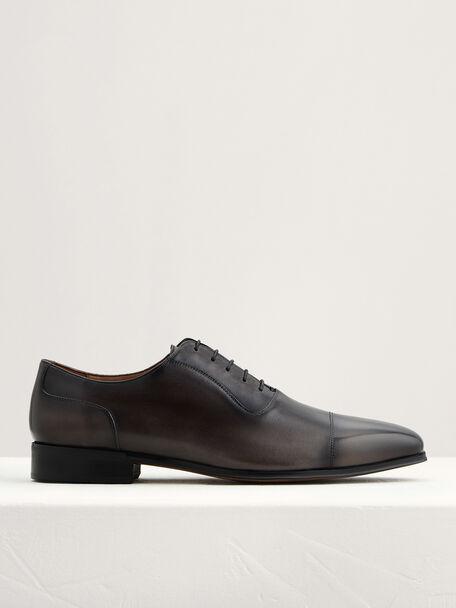 Leather Cap Toe Oxfords, Dark Grey, hi-res
