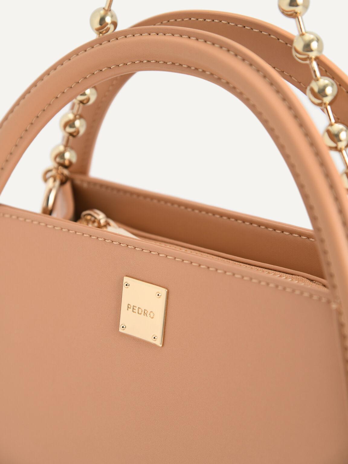 Mini Leather Shoulder Bag, Light Orange, hi-res