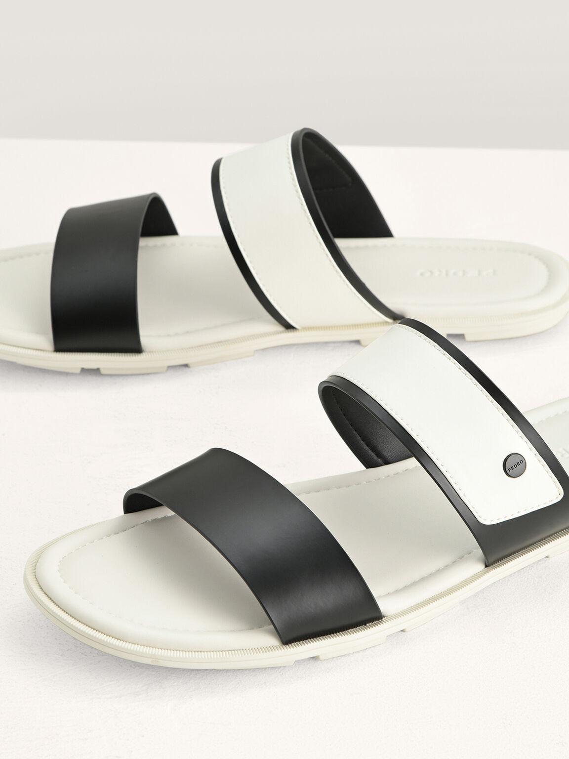 Double Strap Sandals, Beige, hi-res