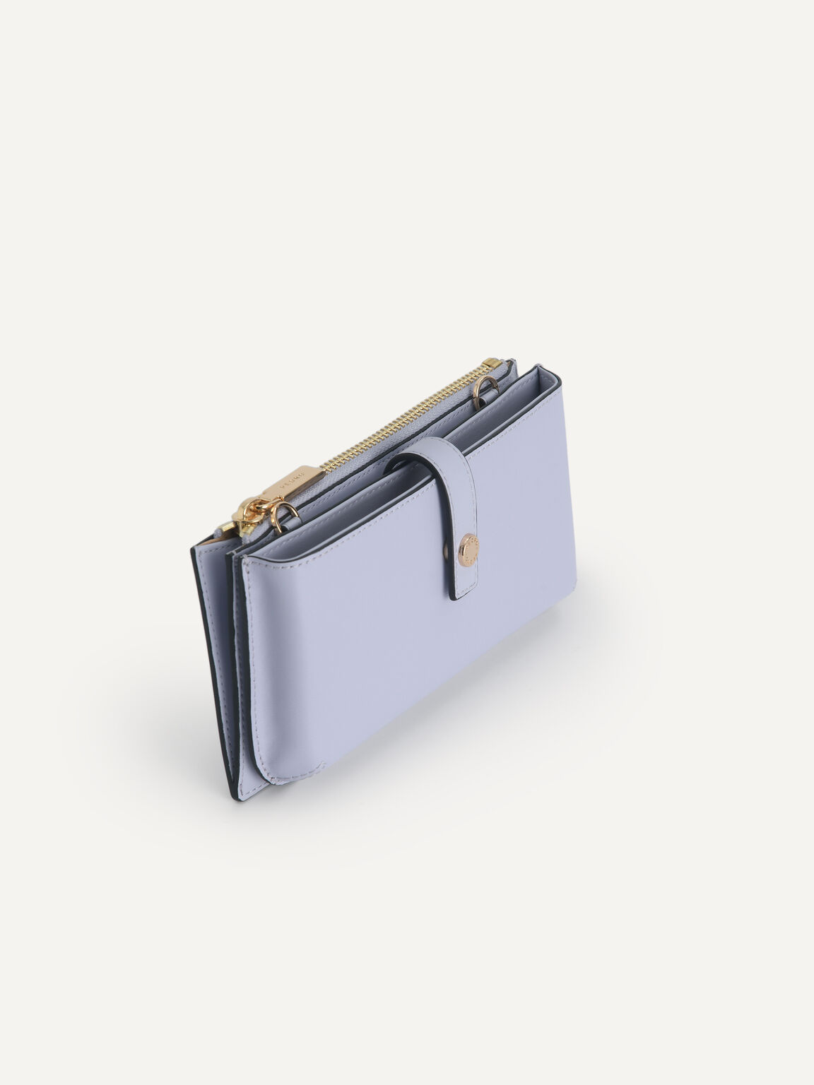 Textured Leather Phone Pouch, Lilac, hi-res