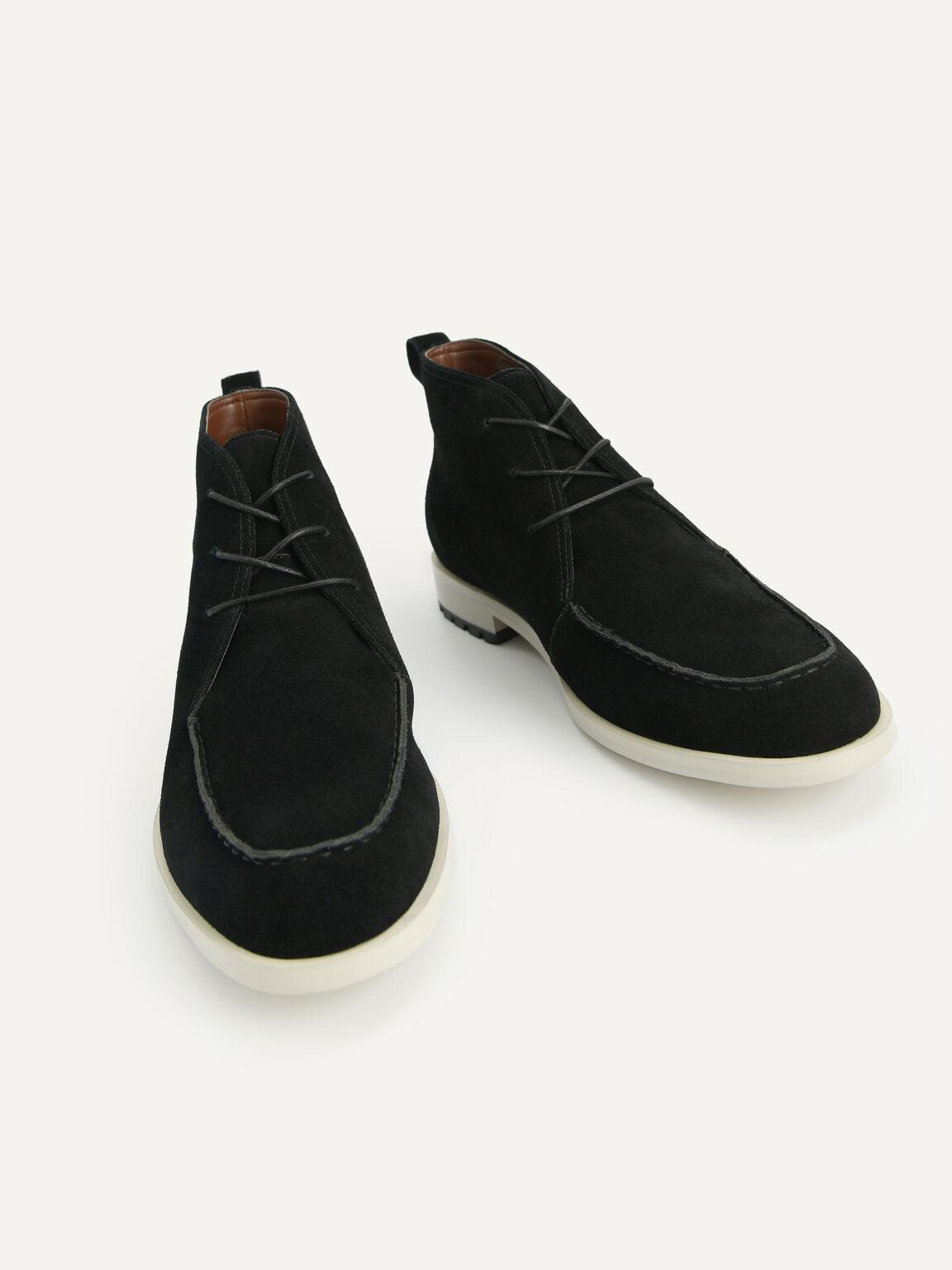 絨面皮靴, 黑色, hi-res