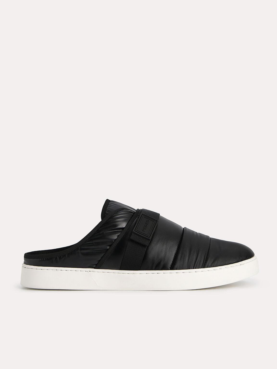 Padded Slip On Sneakers, Black, hi-res