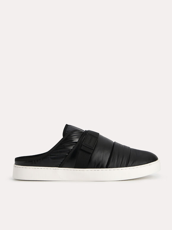 Padded Slip On Sneakers, Black, hi-res