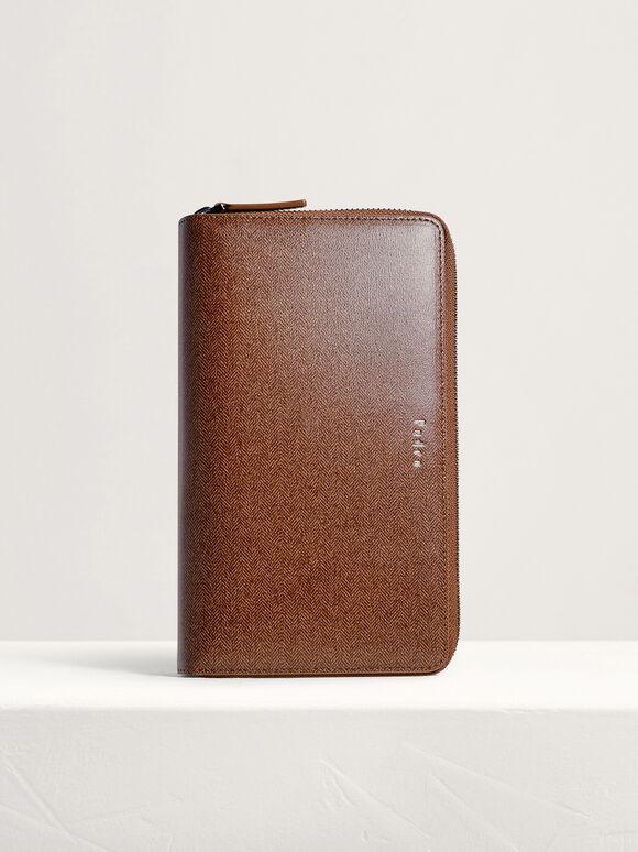 Leather Travel Organizer, Light Brown, hi-res