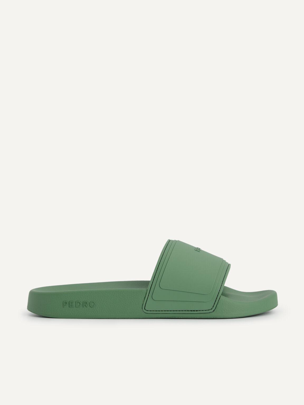 Casual Slides, Green, hi-res