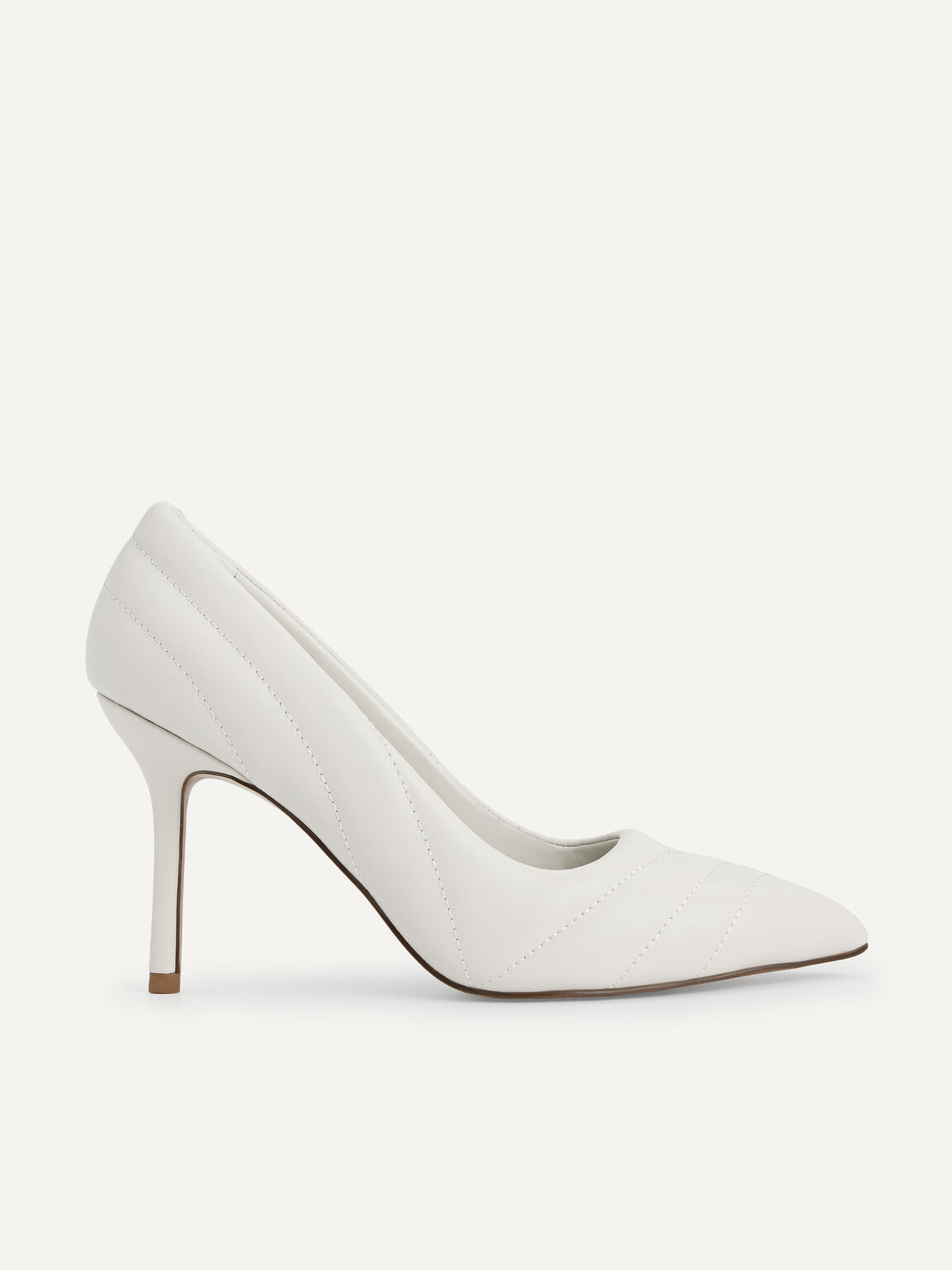 Leather Pointed Toe Pumps, Chalk, hi-res