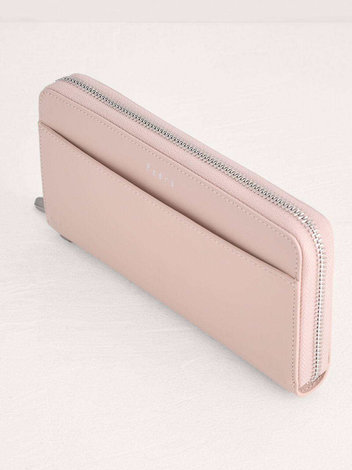 Leather Long Wallet, Nude, hi-res