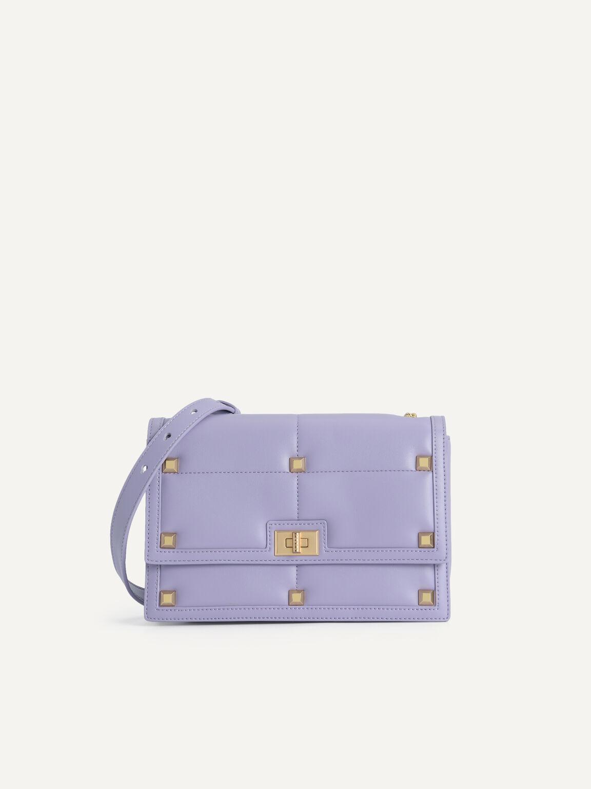 Quilted Shoulder Bag, Violet, hi-res