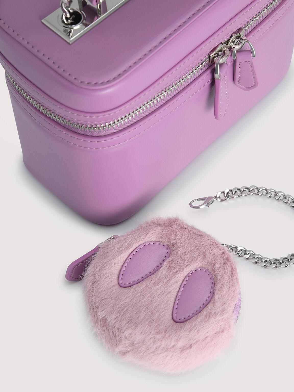 Boxy Shoulder Bag, Purple, hi-res