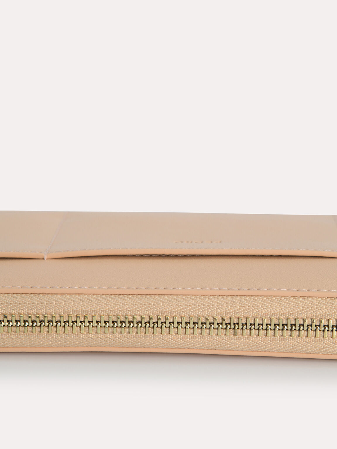Long Leather Zip Wallet, Sand, hi-res