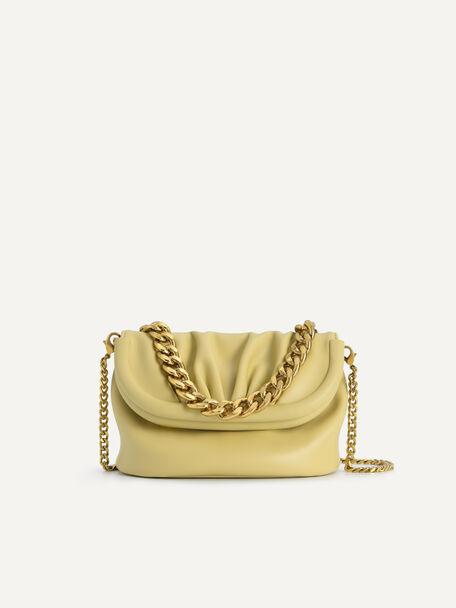 Mini Draped Shoulder Bag, Sand, hi-res