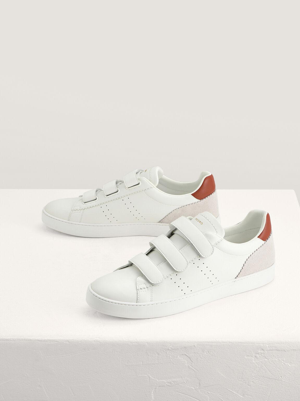 Velcro Sneakers, White, hi-res