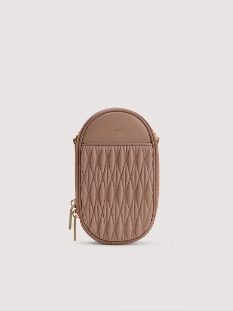 Mini Quilted Shoulder Bag, Nude, hi-res