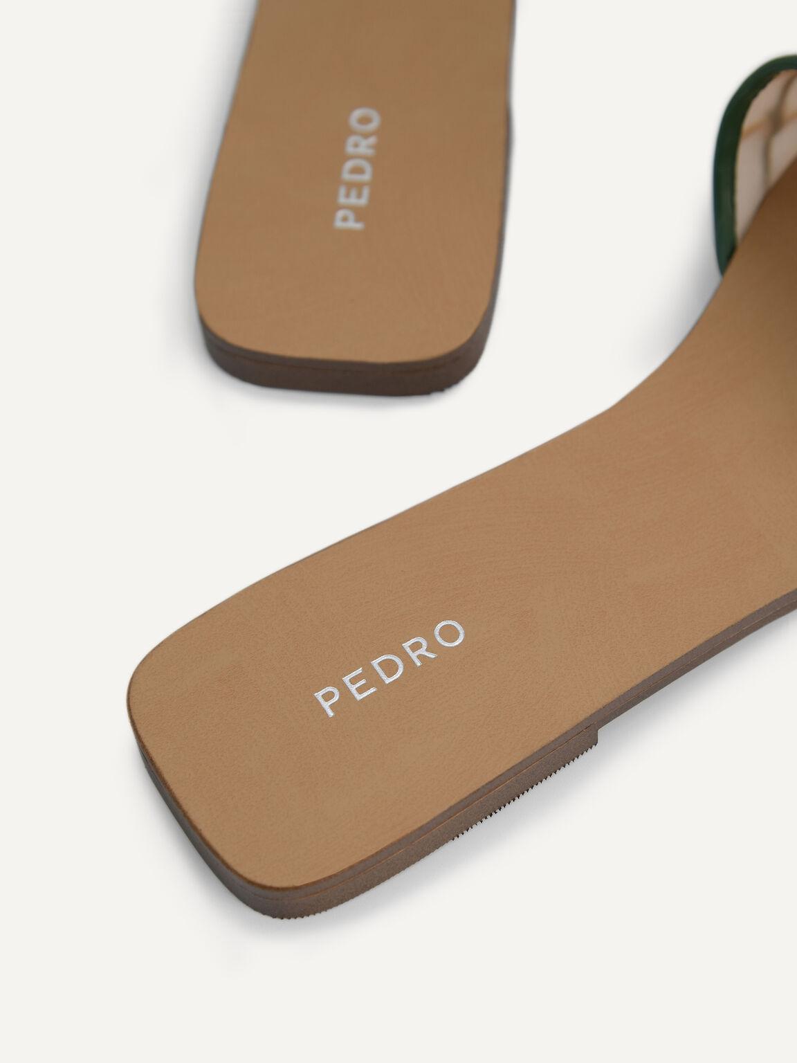 Woven Mesh Slide Sandals, Multi, hi-res