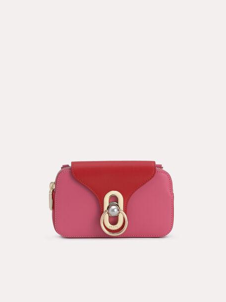 Mini Leather Shoulder Bag, Rose, hi-res