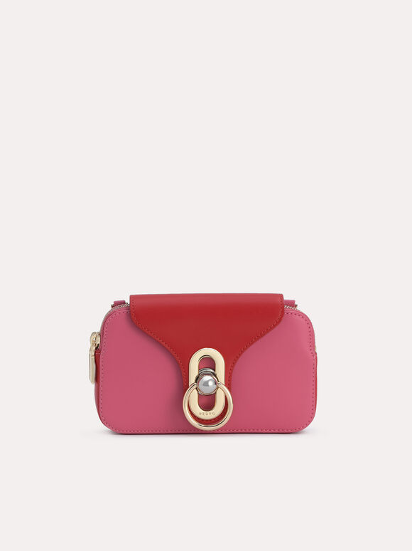 Mini Leather Shoulder Bag, Rose, hi-res