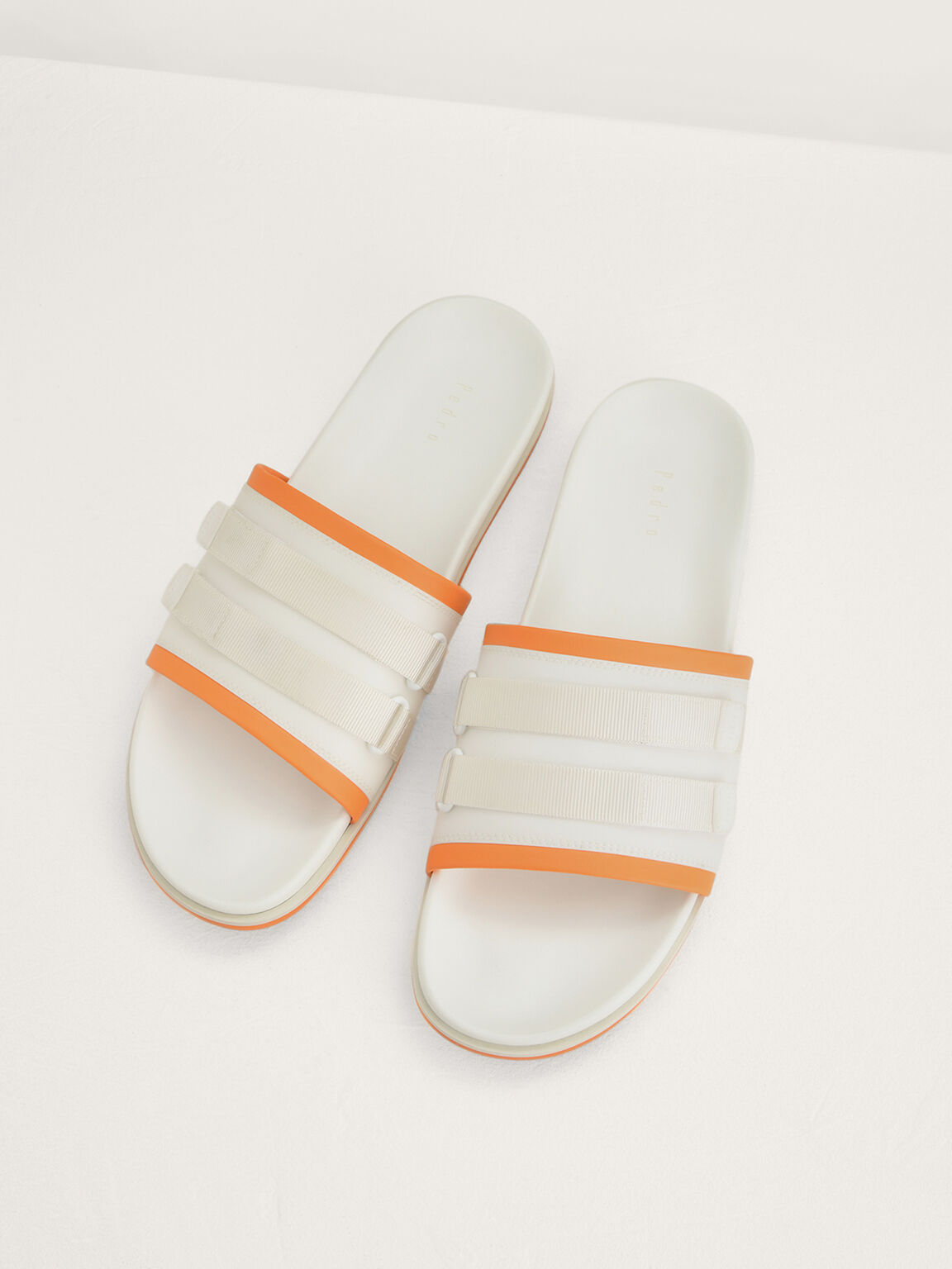 Velcro Sliders in Two-Tone, White, hi-res