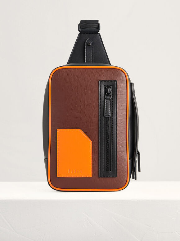 Colorblock Sling Pouch, Multi, hi-res
