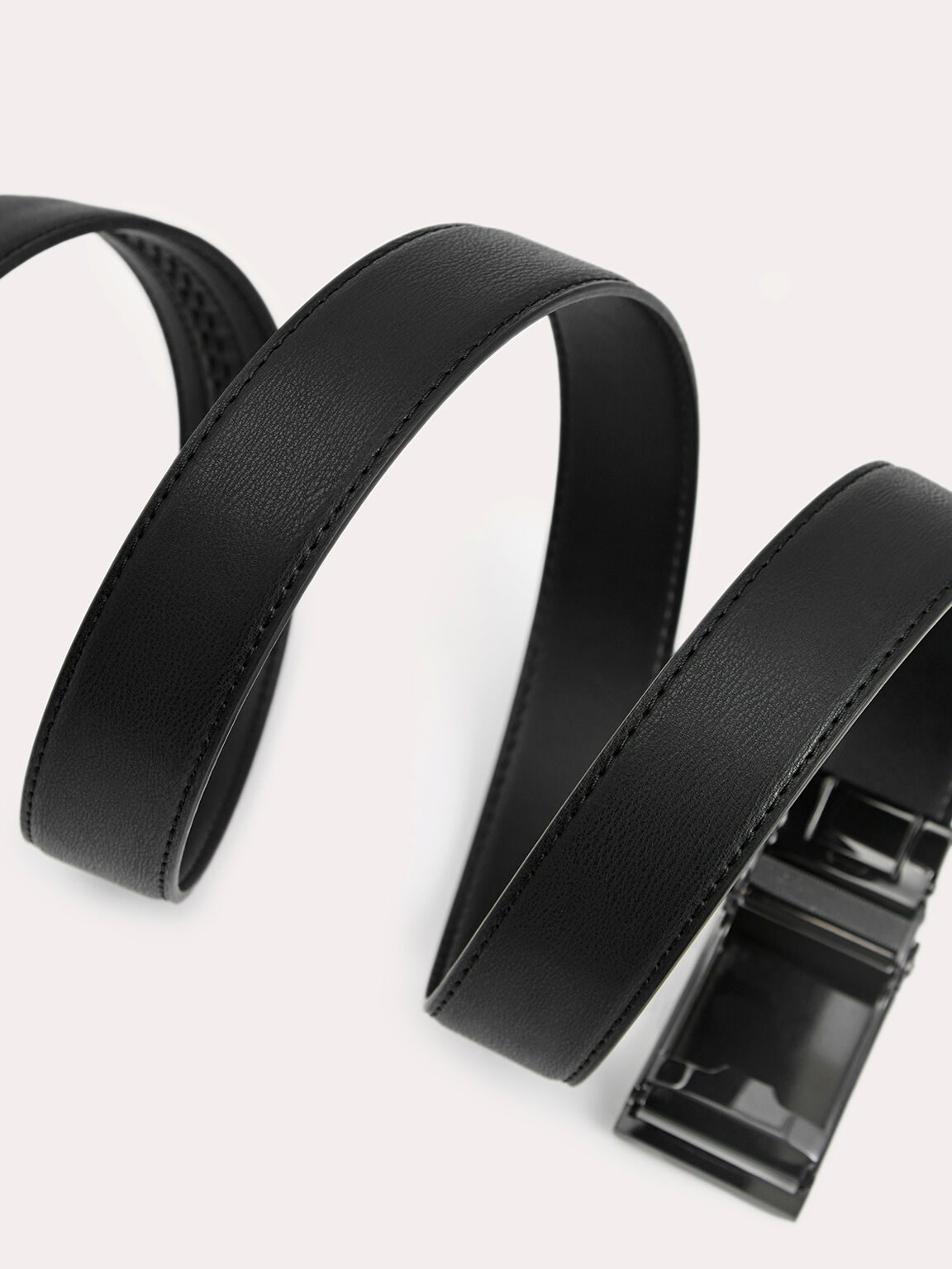 自動扣皮帶, 黑色, hi-res
