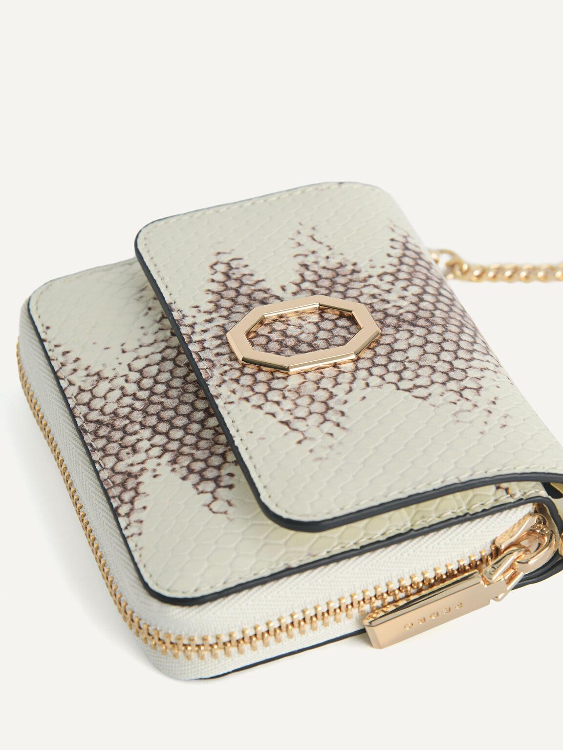 Snake-Effect Leather Bi-Fold Wallet, Multi2, hi-res