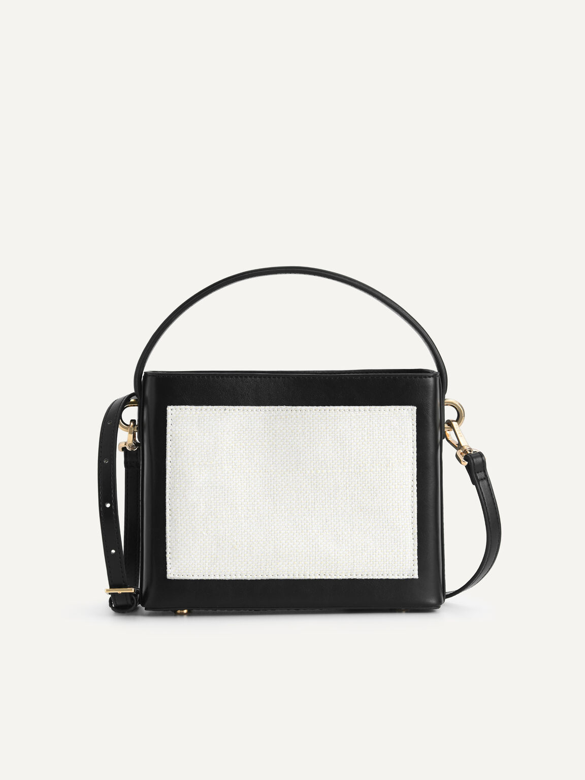 Boxy Top Handle with Braided Strap, Black, hi-res