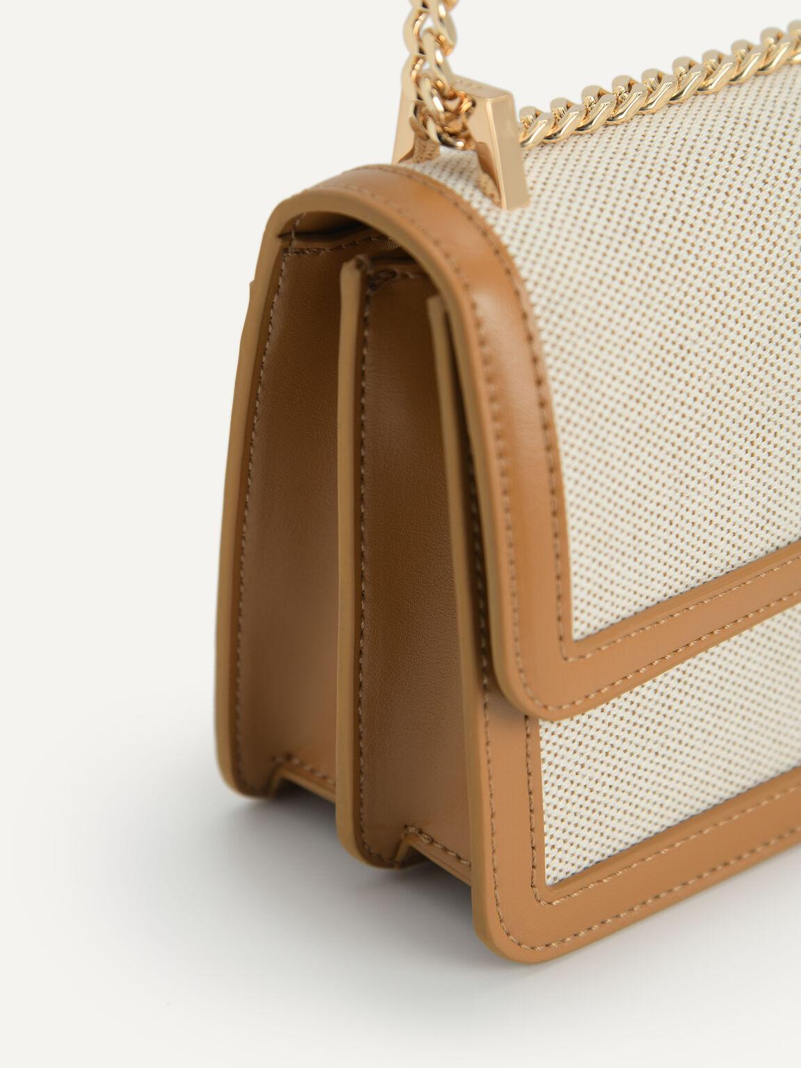 Canvas Shoulder Bag, Mustard, hi-res