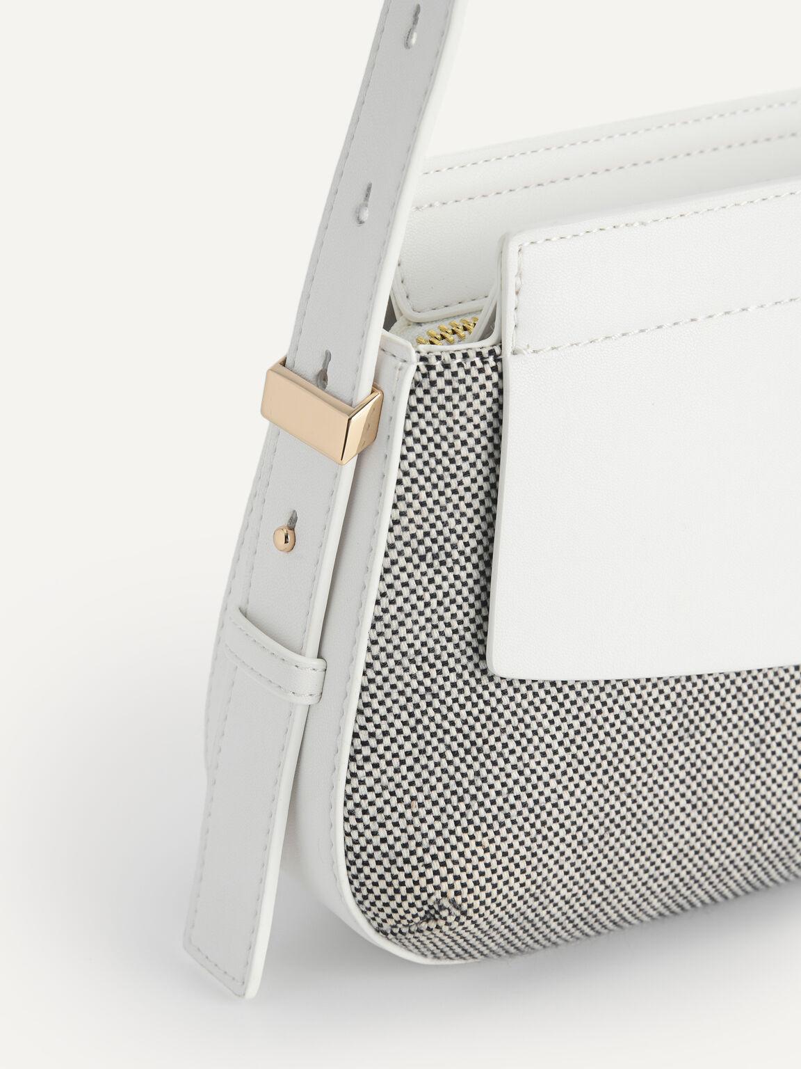 Baguette Shoulder Bag, White, hi-res
